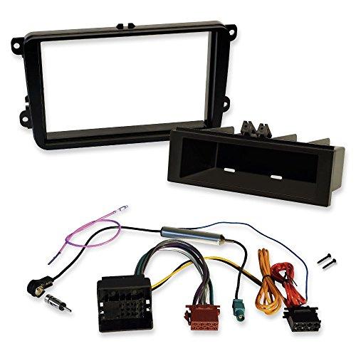 Mazda 5 CR Doppel 2-DIN Blende Antennenadapter Einbau-SET ISO Radio KFZ Kabel