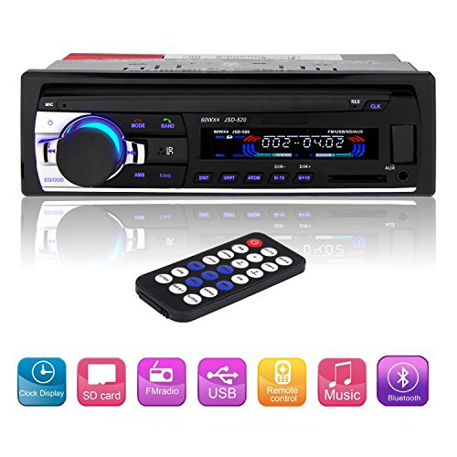 ctbd auto stereo in dash 12v fm empf nger bluetooth radio. Black Bedroom Furniture Sets. Home Design Ideas