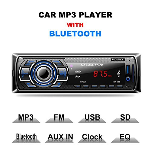 auto radio mp3 von pomile single din autoradio bluetooth. Black Bedroom Furniture Sets. Home Design Ideas